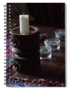 Candles In The Morning Spiral Notebook