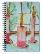 Candles In The Wind-ow Spiral Notebook