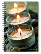 Candles On Green Spiral Notebook