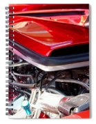 Candy Apple Red Horsepower - Ford Racing Engine Spiral Notebook