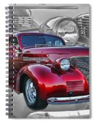 Candy Apple Red Spiral Notebook