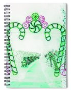 Candy Cane Christmas 5 Spiral Notebook