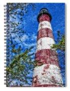 Candy Cane Lighthouse Spiral Notebook
