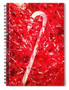 Candy Cane Spiral Notebook