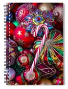 Candy Canes And Colorful Ornaments Spiral Notebook