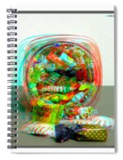 Candy Jar - Use Red-cyan Filtered 3d Glasses Spiral Notebook