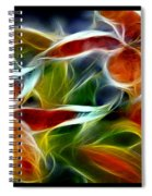 Candy Lily Fractal Triptych Spiral Notebook