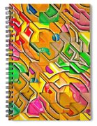 Candy - Lolly Pop Abstract  Spiral Notebook