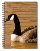 Canidian Goose On Golden Pond Spiral Notebook
