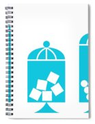 Canisters In Turquoise Spiral Notebook