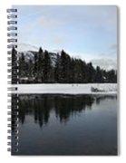 Winter Mountain Calm - Canmore, Alberta Spiral Notebook