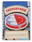 Cannery Row Directory At The Monterey Bay Aquarium California 5d25020 Spiral Notebook