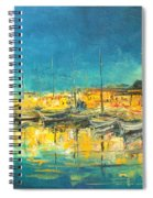 Cannes By Night Spiral Notebook