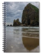 Cannon Beach Haystack Reflection Spiral Notebook