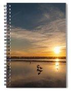 Cannon Beach Sunset Tidal Flats Spiral Notebook