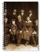 Cannon Family Portrait Circa 1912 Spiral Notebook