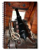 Cannon On Sailship Spiral Notebook