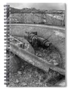 Cannon Remains From Ww2 Bw Spiral Notebook