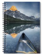 Canoe At Lower Waterfowl Lake With Spiral Notebook