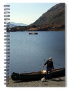 Canoe By The Lake Spiral Notebook