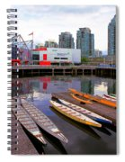 Canoe Club And Telus World Of Science In Vancouver Spiral Notebook