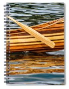 Canoe Lines And Reflections Spiral Notebook