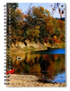 Canoe On The Gasconade River Spiral Notebook