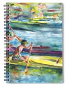 Canoe Race In Polynesia Spiral Notebook