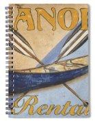 Canoe Rentals Spiral Notebook