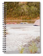 Canoe Tent Camp At Yukon River In Taiga Wilderness Spiral Notebook