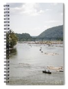 Canoeing On The Potomac River At Harpers Ferry Spiral Notebook