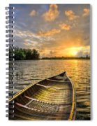 Canoeing At Sunrise Spiral Notebook