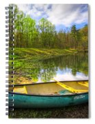 Canoeing At The Lake Spiral Notebook