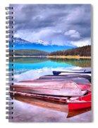 Canoes At Lake Patricia Spiral Notebook