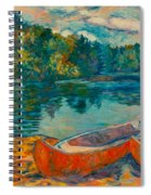Canoes At Mountain Lake Spiral Notebook