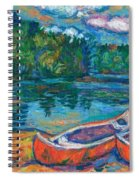 Canoes At Mountain Lake Sketch Spiral Notebook