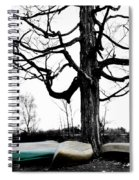 Canoes In Winter Spiral Notebook