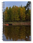 Canoes On The Shore At Loch An Eilein Spiral Notebook