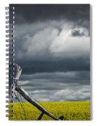 Canola Field In Southern Alberta Spiral Notebook