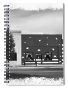 Canon City Facades - Black And White Edge Burn Spiral Notebook