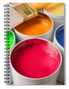 Cans Of Colored Paint Spiral Notebook