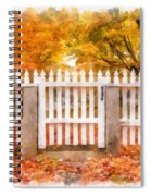 Canterbury Shaker Village Picket Fence  Spiral Notebook