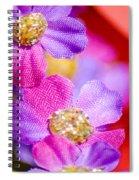 Canvas Flowers Spiral Notebook