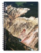 Canyon And Yellowstone Falls Spiral Notebook