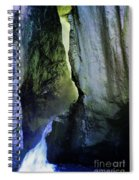 Canyon Creek Narrows And Spills Thousands Of Gallons A Minute  Spiral Notebook