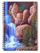Canyon Waterfall Spiral Notebook
