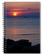 Cape Charles Rocky Sunset  Spiral Notebook