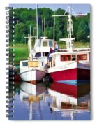 Cape Cod Harbor  Spiral Notebook