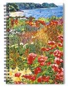 Cape Cod Ocean Garden Spiral Notebook