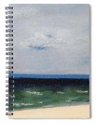 Cape Cod White Caps At Chapoquoit Beach Spiral Notebook